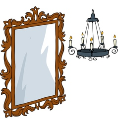 baroque furniture vector image