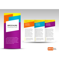 Brochure Tri-fold Layout Design Template vector image
