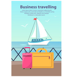 Business travelling ship vector