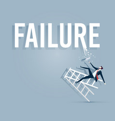 Businessman painting the word failure vector