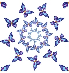 Butterfly seamless pattern 1 vector image
