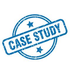 Case study grunge stamp vector