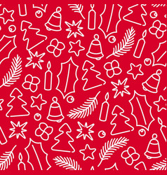 christmas decoration pattern vector image