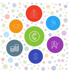 coin icons vector image