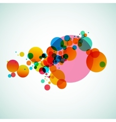 Colorful abstract background beautiful circles vector image vector image