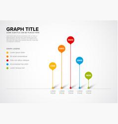Column vertical graph template vector