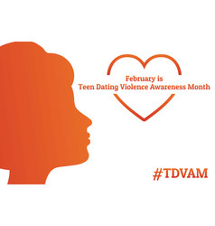 Concept teen dating violence awareness month vector