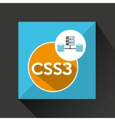 css3 language data base storage vector image