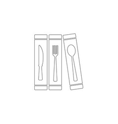 cutlery flat icon vector image