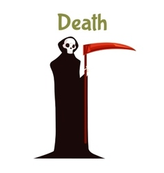 Death with scythe costume for Halloween vector image