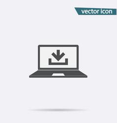 download icon flat downgrade symbol isolat vector image