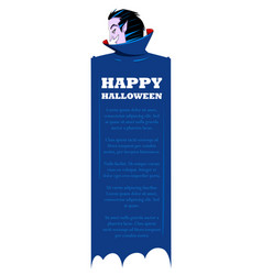 dracula in happy halloween holiday night vector image vector image