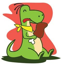 Eating dinosaur vector