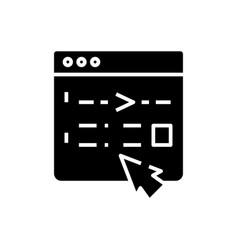 Editing black icon concept vector