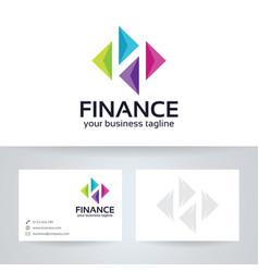 finance logo design vector image