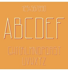 Flat alphabet vector