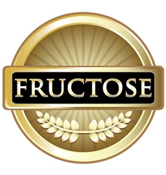 Fructose Gold Label vector image