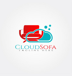 Furniture logo templatecloud and seat icon vector
