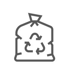 garbage bag trash garbage line icon vector image