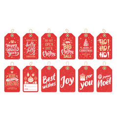 gift tags set for christmas and new year vector image