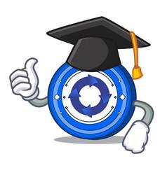 graduation cryptonex coin character cartoon vector image