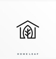 house leaf template vector image