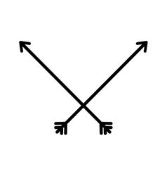 Isolated bow arrow vector image