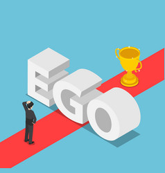 Isometric businessmen was obstructed by the ego vector