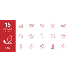 king icons vector image