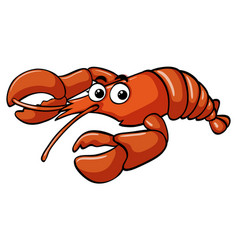 Lobster with happy face vector