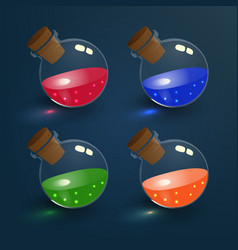 magic elixirs set vector image