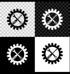 maintenance symbol - screwdriver spanner and vector image