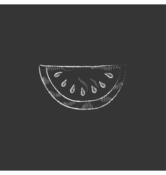 Melon drawn in chalk icon vector