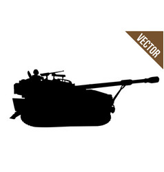 military tank silhouette vector image