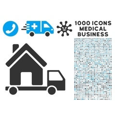 Mobile House Icon with 1000 Medical Business vector