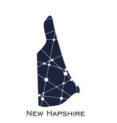 new hampshire state map vector image