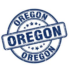 Oregon blue grunge round vintage rubber stamp vector