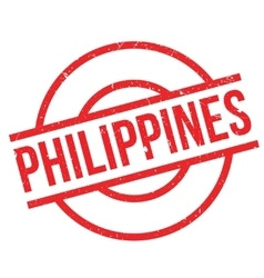 Philippines rubber stamp vector