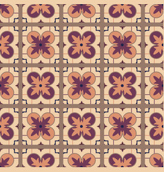 portuguese tile seamless pattern vector image