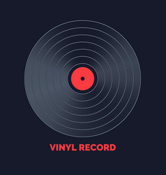 poster of the vinyl record music vector image