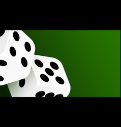Realistic game dice icon in flight closeup vector