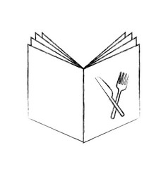 Recipe book isolated icon vector