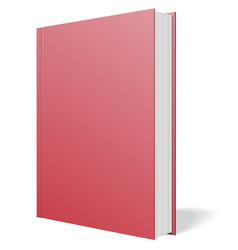 red book standing isolated vector image