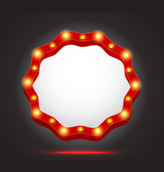 retro light frame banner vector image