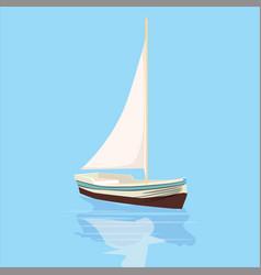 sailboat banner cartoon vector image