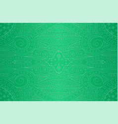 seamless abstract green linear pattern with stars vector image