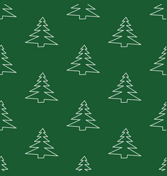 Seamless pattern made from doodle abstract fir vector