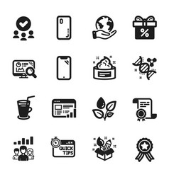 Set business icons such as skin cream vector