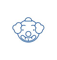 smiling clown emoji line icon concept smiling vector image
