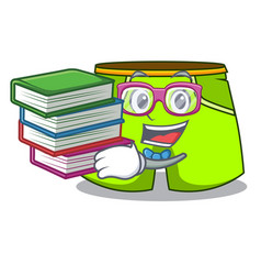 Student with book fashion short pants isolated on vector